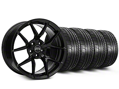 Staggered RTR Tech 5 Black Wheel & Mickey Thompson Tire Kit - 19x9.5/10.5 (15-18 GT, EcoBoost, V6)