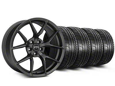 Staggered RTR Tech 5 Charcoal Wheel & Mickey Thompson Tire Kit - 19x9.5/10.5 (15-18 GT, EcoBoost, V6)