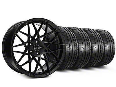 Staggered RTR Tech Mesh Black Wheel & Mickey Thompson Tire Kit - 19x9.5/10.5 (15-19 GT, EcoBoost, V6)
