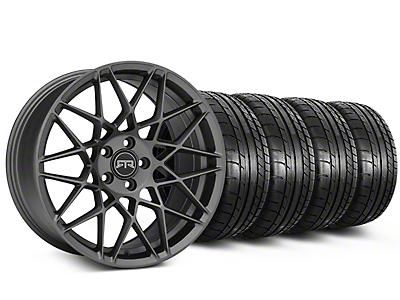 Staggered RTR Tech Mesh Charcoal Wheel & Mickey Thompson Tire Kit - 19x9.5/10.5 (15-18 GT, EcoBoost, V6)