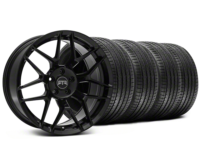 Staggered RTR Tech 7 Black Wheel & Sumitomo Tire Kit - 20x9.5/10.5 (15-18 GT, EcoBoost, V6)
