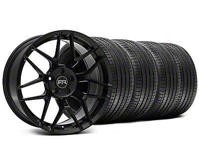 Staggered RTR Tech 7 Black Wheel & Sumitomo Tire Kit - 20x9.5/10.5 (15-18 V6, GT, and EcoBoostl)