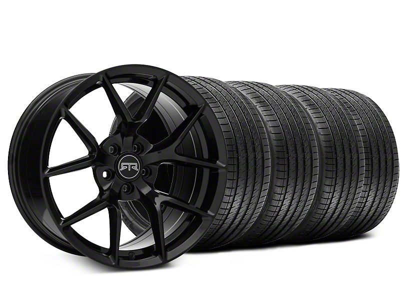 Staggered RTR Tech 5 Black Wheel & Sumitomo Tire Kit - 20x9.5/10.5 (15-17 All)