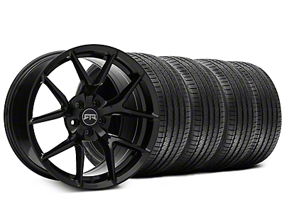 Staggered RTR Tech 5 Black Wheel & Sumitomo Tire Kit - 20x9.5/10.5 (15-18 All)