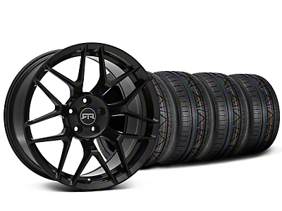 Staggered RTR Tech 7 Black Wheel & NITTO INVO Tire Kit - 20x9.5/10.5 (15-18 GT, EcoBoost, V6)