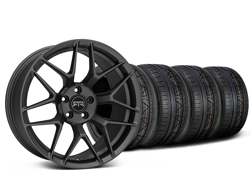 Staggered RTR Tech 7 Charcoal Wheel & NITTO INVO Tire Kit - 20x9.5/10.5 (15-18 GT, EcoBoost, V6)