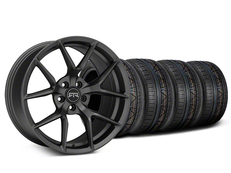 Staggered RTR Tech 5 Charcoal Wheel & NITTO INVO Tire Kit - 20x9.5/10.5 (15-19 GT, EcoBoost, V6)