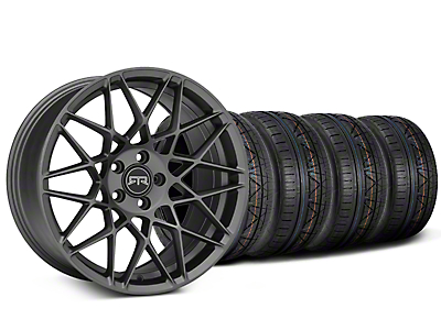 Staggered RTR Tech Mesh Charcoal Wheel & NITTO INVO Tire Kit - 20x9.5/10.5 (15-17 All)
