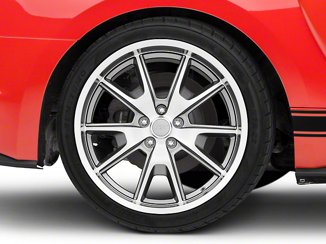 50 Years Style Gunmetal Wheel; Rear Only; 20x10 (15-20 GT, EcoBoost, V6)