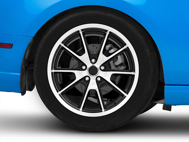 50 Years Style Gloss Black Machined Wheel; Rear Only; 19x10 (10-14 All)