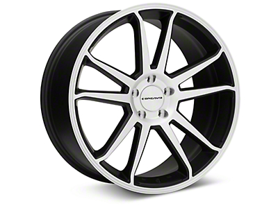 Concavo CW-S5 Matte Black Machined Wheel - 20x9 (15-18 GT, EcoBoost, V6)