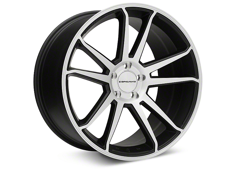 Concavo CW-S5 Matte Black Machined Wheel - 20x10.5 (05-14 All)