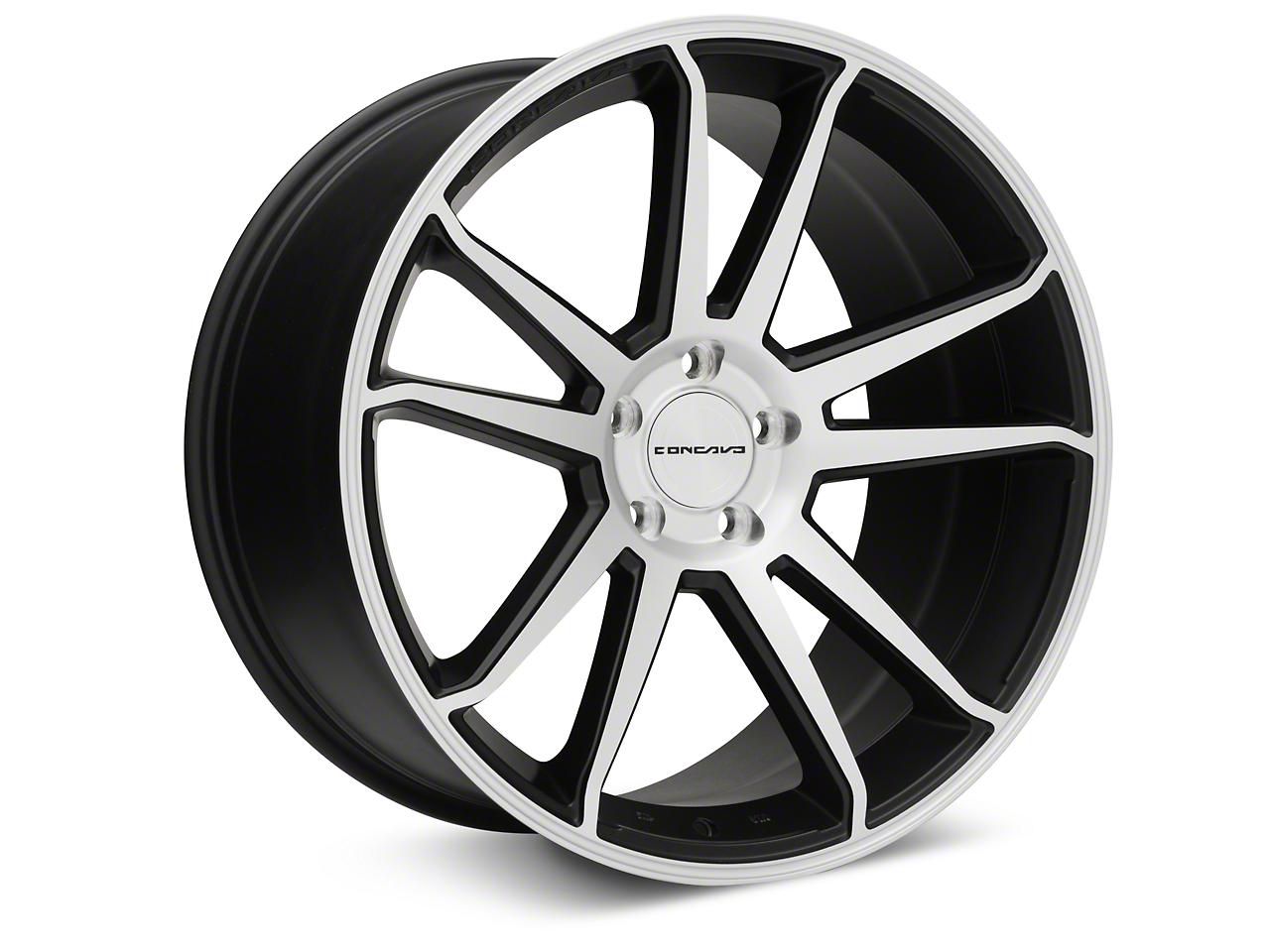 Concavo CW-S5 Matte Black Machined Wheel - 20x10.5 (15-17 All)