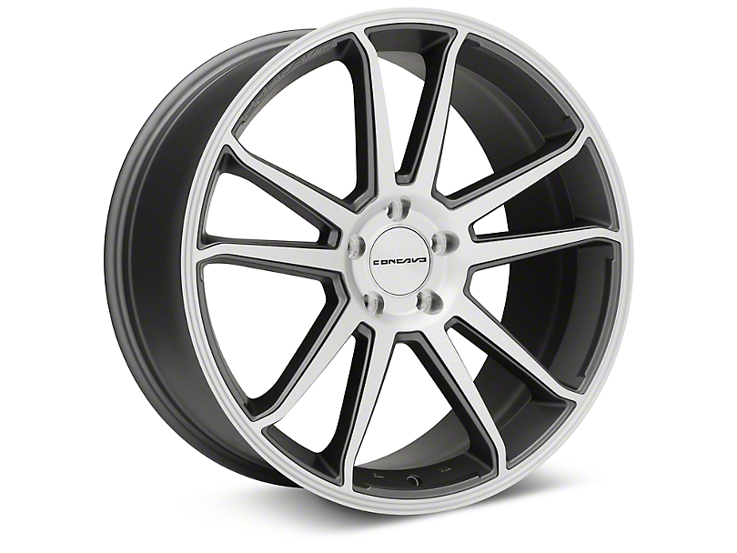 Concavo CW-S5 Matte Gray Machined Wheel - 20x9 (15-17 All)