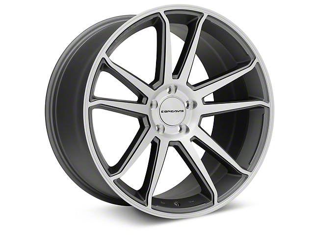 Concavo CW-S5 Matte Gray Machined Wheel - 20x10.5 (15-17 All)