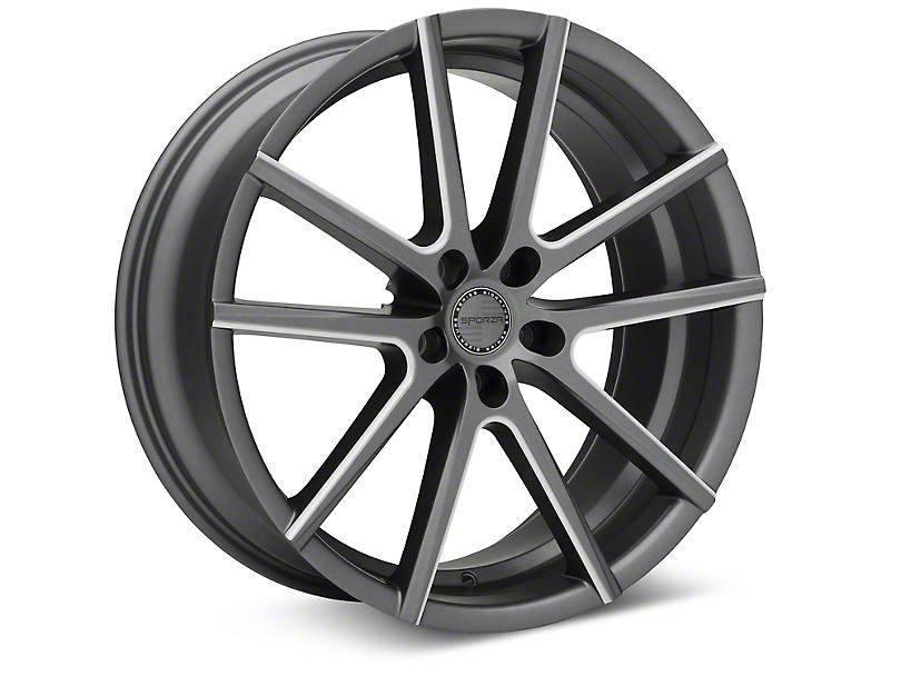 Sporza V5 Satin Graphite Machined Wheel - 20x8.5 (05-14 All)