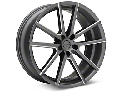 Sporza V5 Satin Graphite Machined Wheel - 20x8.5 (15-17 All)