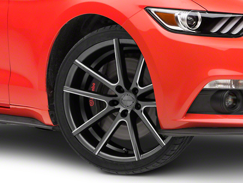 Sporza V5 Satin Graphite Machined Wheel - 20x10 (15-18 GT, EcoBoost, V6)