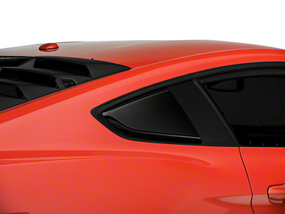 Roush Quarter Window Scoops - Painted Black (15-18 All)
