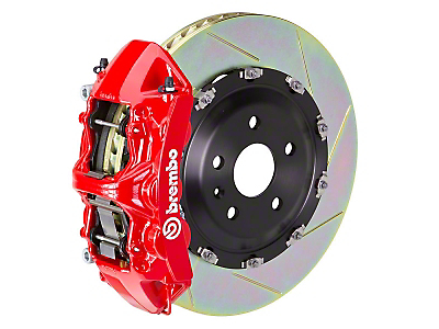 Brembo GT Series 6-Piston Front Brake Kit Red - 15 in. Type 1 Slotted Rotors (11-14 GT Brembo; 12-13 BOSS 302; 07-12 GT500)