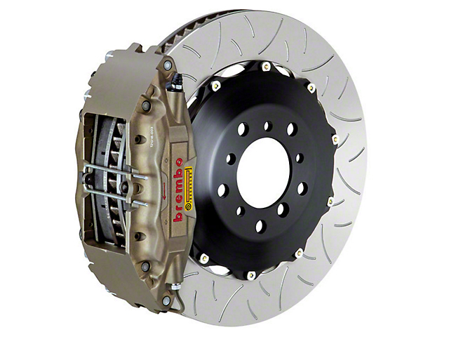 Brembo Club Racing Front Big Brake Kit - Type 3 Slotted Rotors (11-14 GT Brembo, 12-13 BOSS, 07-12 GT500)