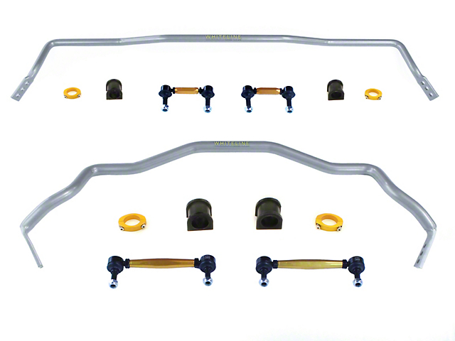 Whiteline Heavy Duty Adjustable Front & Rear Sway Bars w/ End Links (15-19 All)
