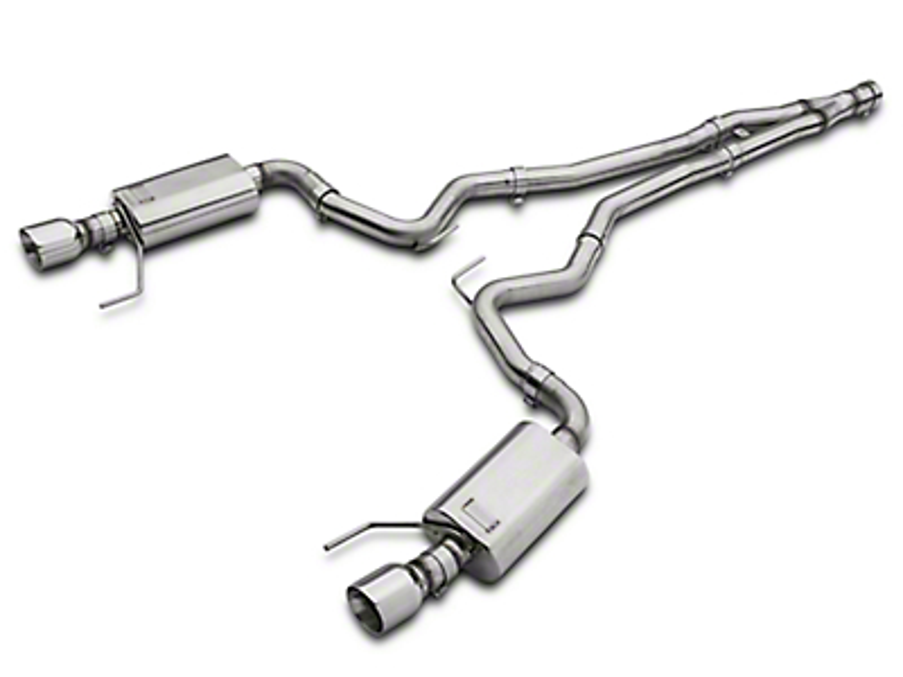Kooks Cat-Back Exhaust w/ Y-Pipe (15-19 EcoBoost Fastback w/ Kooks Down Pipe)