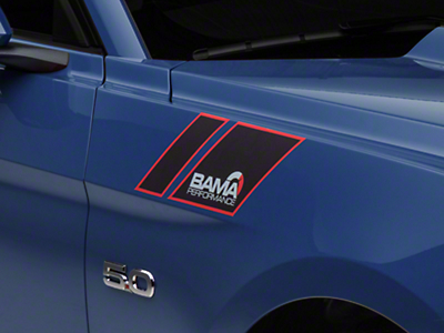 American Muscle Graphics Black Hash Marks w/ Bama Logo (15-18 All)