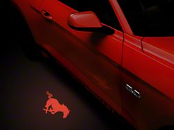 American Muscle Graphics Side View Mirror Puddle Lamp Lens Tint - Red (13-19 All)