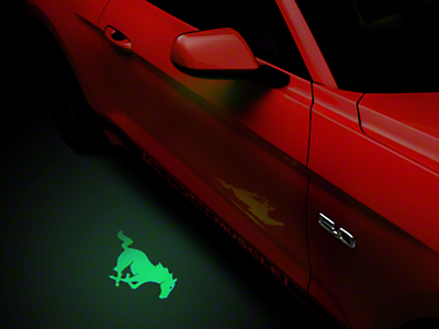 American Muscle Graphics Side View Mirror Puddle Lamp Lens Tint - Green (13-17 All)
