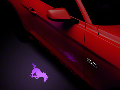 American Muscle Graphics Side View Mirror Puddle Lamp Lens Tint - Purple (13-17 All)
