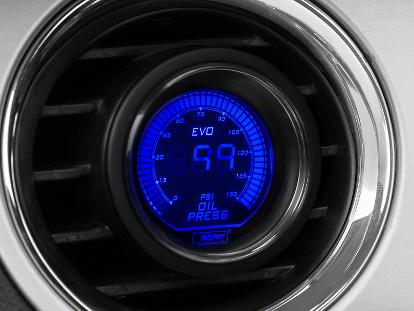 Dual Color Oil Pressure Digital Gauge - Electrical - Blue/Red (79-18 All)