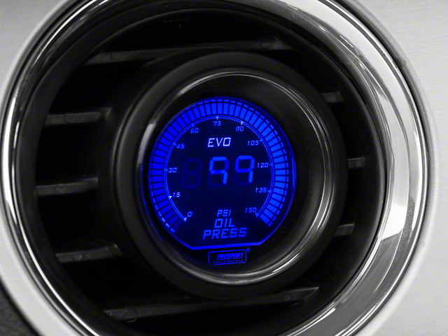 Prosport 52mm Digital Oil Pressure Gauge; Electrical; Blue/Red (Universal Fitment)