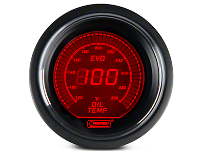 Dual Color Digital Oil Temp Gauge - Electrical - Blue/Red (79-18 All)