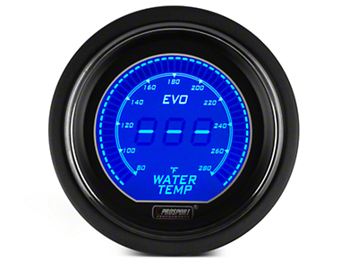 Dual Color Digital Water Temp Gauge - Electrical - Blue/Red (79-17 All)
