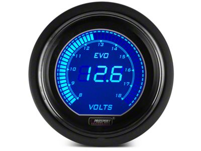 Add Dual Color Digital Voltmeter Gauge - Electric, Blue/Red (79-17 All)