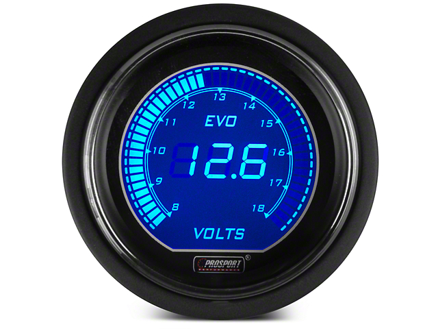 Dual Color Digital Voltmeter Gauge - Electrical - Blue/Red (79-18 All)