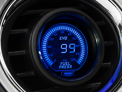 Dual Color Fuel Pressure Digital Gauge - Electric, Blue/Red (79-17 All)