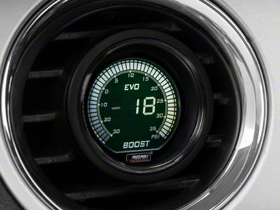 Dual Color Digital 35 PSI Boost/Vac Gauge - Electrical - Green/White (79-19 All)