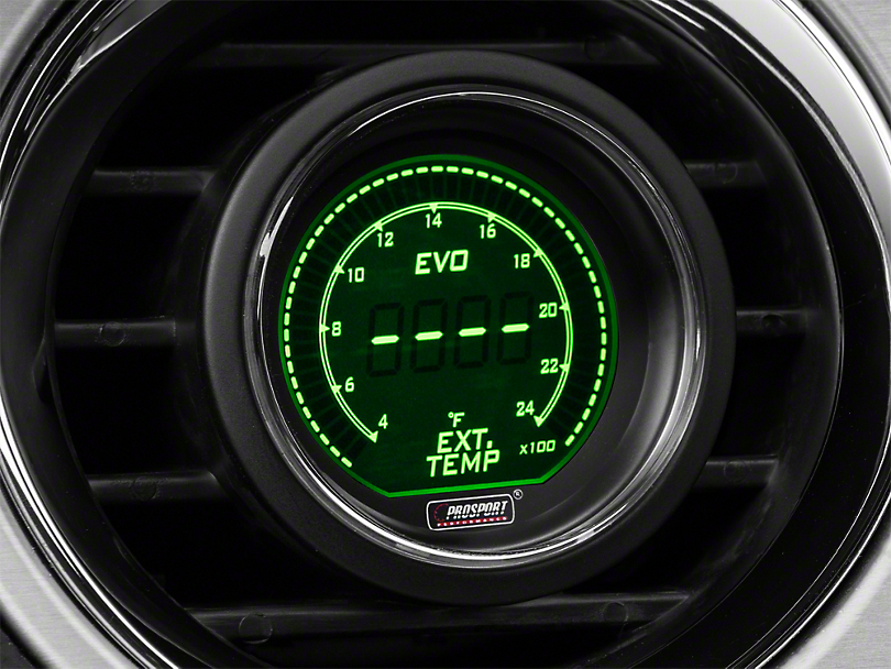 Dual Color Digital Exhaust Gas Temp Gauge - Electrical - Green/White (79-19 All)