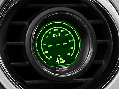Dual Color Digital Oil Temp Gauge - Electrical - Green/White (79-17 All)
