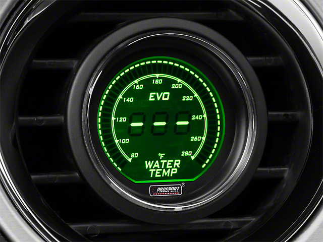 Dual Color Digital Water Temp Gauge - Electrical - Green/White (79-19 All)