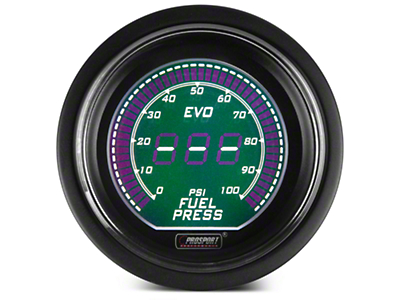 Dual Color Digital Fuel Pressure Gauge - Electrical - Green/White (79-17 All)