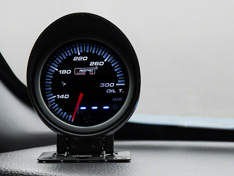 Dual Display Oil Temp Gauge - Electric, Amber/White (79-17 All)