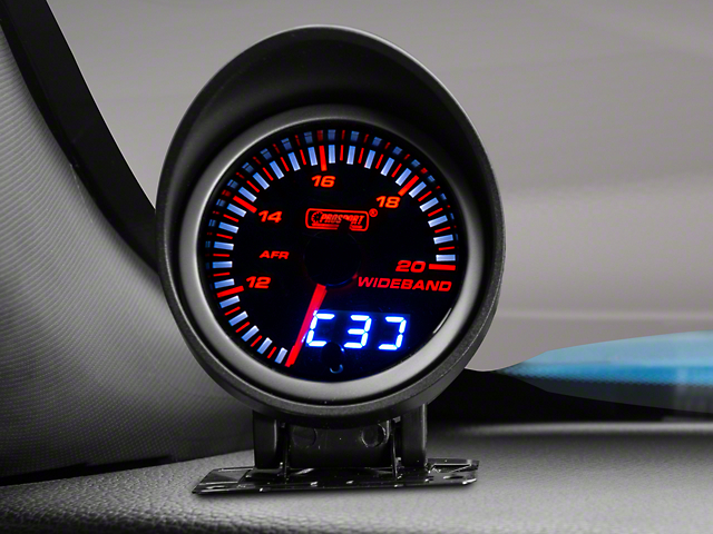 Prosport 60mm JDM Series Dual Display Wideband Air/Fuel Ratio Gauge; Amber/White (Universal Fitment)