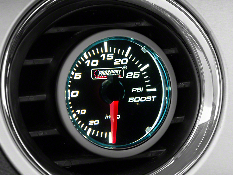 Dual Color 30 PSI Boost/Vac Gauge - Electrical - Blue/White (79-18 All)