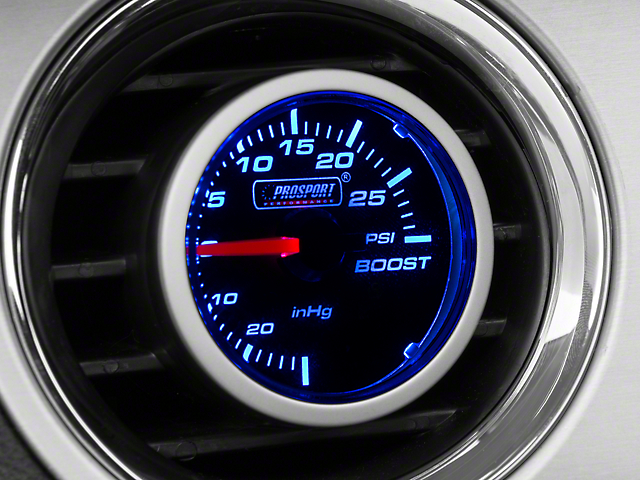 Dual Color 30 PSI Boost/Vac Gauge - Mechanical - Blue/White (79-20 All)