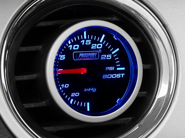 Prosport 52mm Performance Series Boost Gauge; Mechanical; 30 PSI; Blue/White (Universal Fitment)