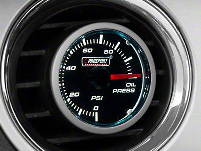 Dual Color Oil Pressure Gauge - Electrical - Blue/White (79-18 All)