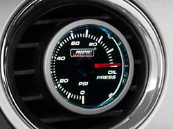 Dual Color Oil Pressure Gauge - Electrical - Blue/White (Universal Fitment)